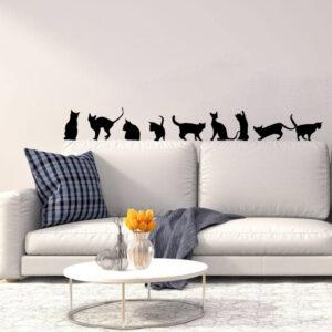 Adesivi da parete silhouette di gatti