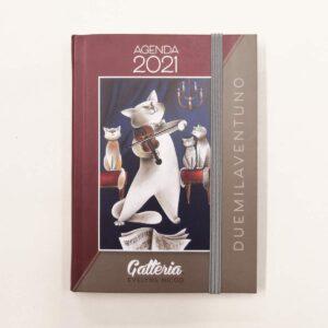 Agenda 2021 della Gatteria di Evelyne Nicod, copertina rossa