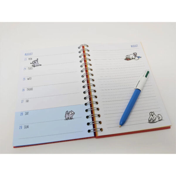 Agenda con gatto Simon's Cat 2021, interno