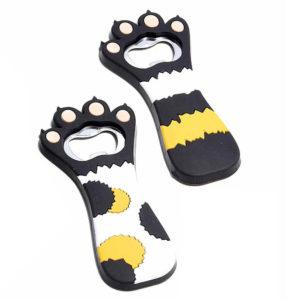 Apribottiglie a forma di zampa di gatto, set completo