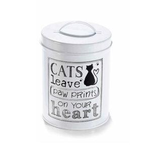 Barattolo di latta piccolo con gatto