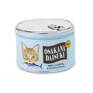 Beauty case scatoletta di pesce con gatto soriano