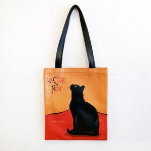 Borsa ecopelle a spalla con gatti Le Chat con gatto nero