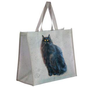 Borsa shopper con il gatto nero disegnato da Kim Haskins