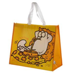 Borsa shopper gialla con gatto Simon's Cat