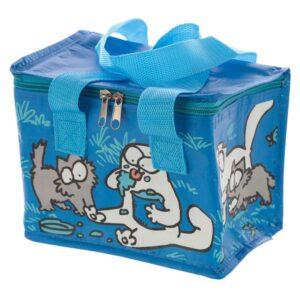 Borsa termica con gatto Simon's Cat blu