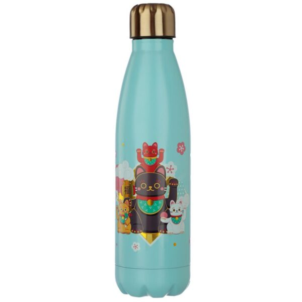 Bottiglia termica con gatto maneki