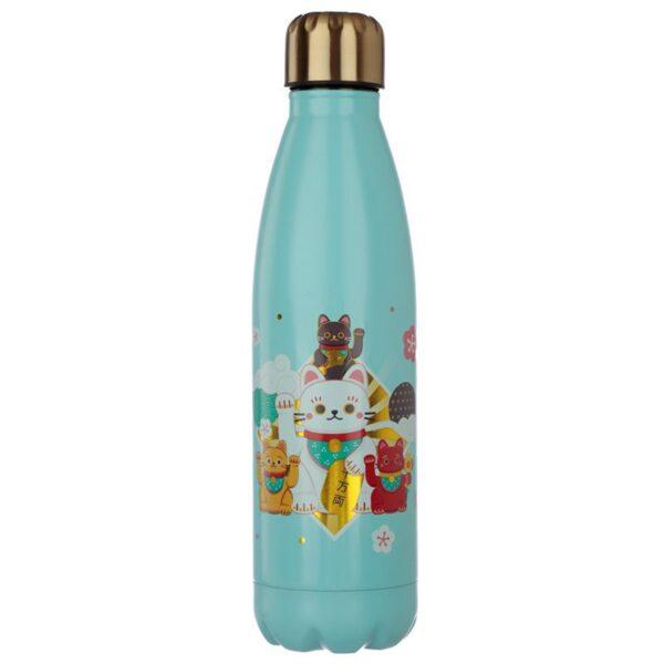 Bottiglia termica con gatto maneki, retro