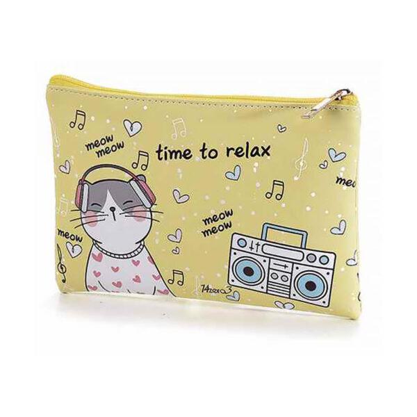 "Bustina morbida con gatti ""Time to relax"""