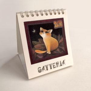 Fronte calendario Gatteria di Evelyne Nicod 2020 da tavolo
