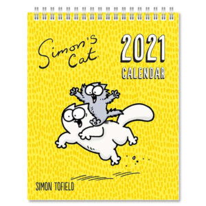 Calendario con gatto di Simon's Cat 2021 da tavolo