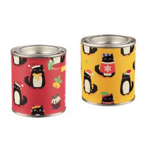 Candele natalizie in cera di soia con gattino nero Feline Fine