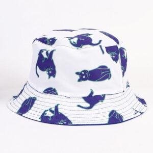 Cappello con gatti blu