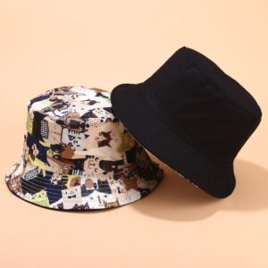 Cappello con gatti double face