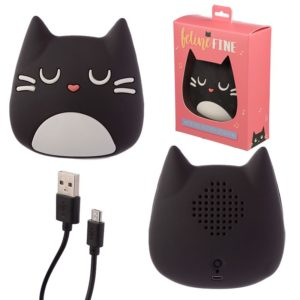 Cassa bluetooth a forma di gatto nero