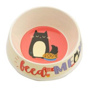 Ciotola per gatto in bamboo Feed me Meow