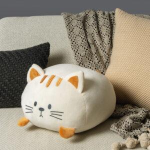 Cuscino a forma di gattino bianco