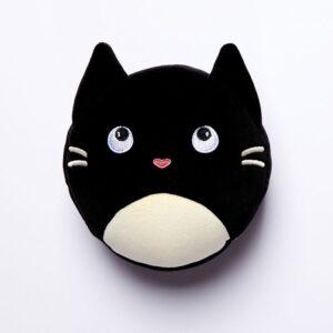 Cuscino da viaggio pieghevole gattino nero