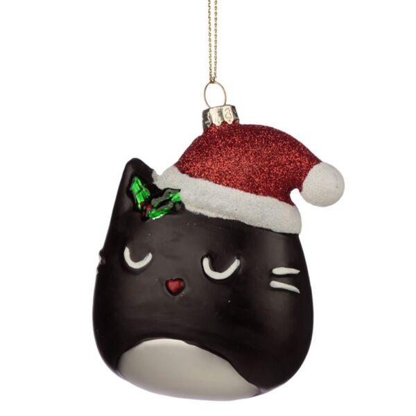 Decorazione natalizia musetto di gatto
