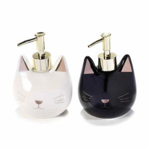 Dispenser sapone in ceramica musetto di gatto