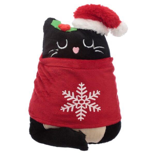 Fermaporte natalizio gattino nero