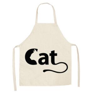 Grembiule da cucina con scritta Cat e musetto di gatto