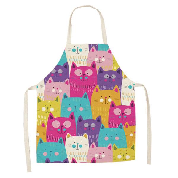 Grembiule da cucina con gatti colorati