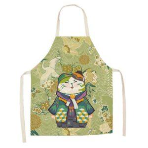 Grembiule da cucina gatto con kimono