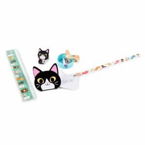 Kit da disegno con gatti