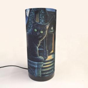 Lampada da tavolo con gatto disegnato da Lisa Parker
