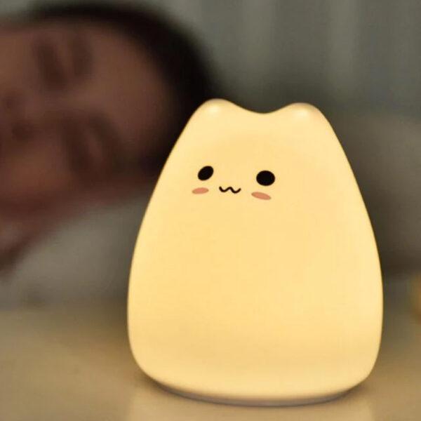 Lampada da notte a forma di gattino