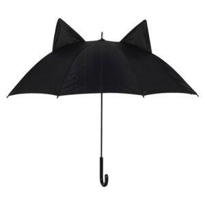 Ombrello nero con orecchie di gatto