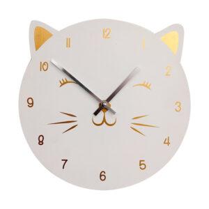 Orologio da parete a forma di musetto di gatto