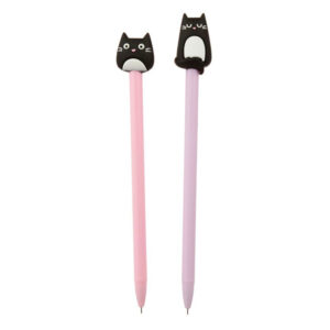 Penna con copripenna a forma di gatto nero