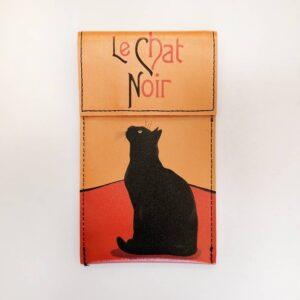 Portaocchiali ecopelle con gatti Le Chat con gatto nero