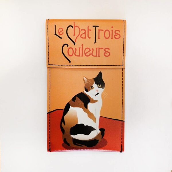 Portaocchiali ecopelle con gatti Le Chat con gatto pezzato