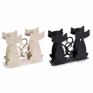 Portatovaglioli in metallo opaco con gatti