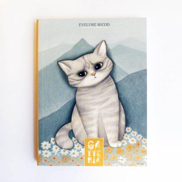 Quadernino della Gatteria con gatto tigrato