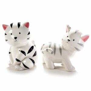 Salvadanaio in ceramica gattino bianco