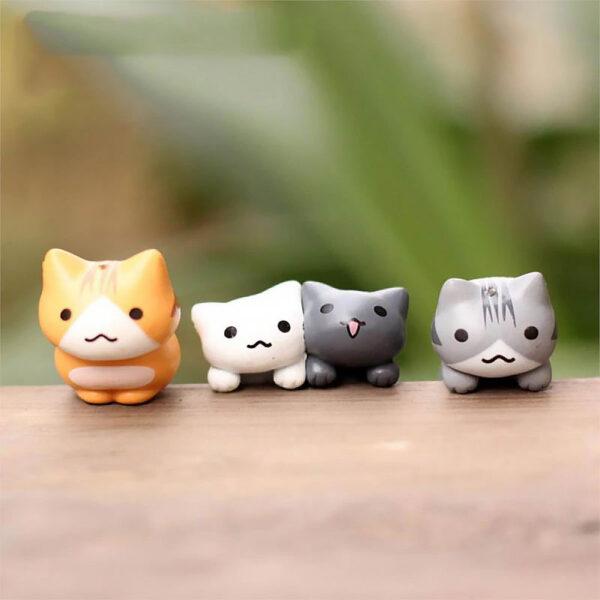 Set di 6 statuette gattini decorativi, dettaglio 01