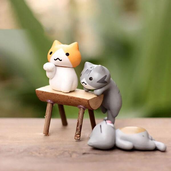 Set di 6 statuette gattini decorativi, dettaglio 02