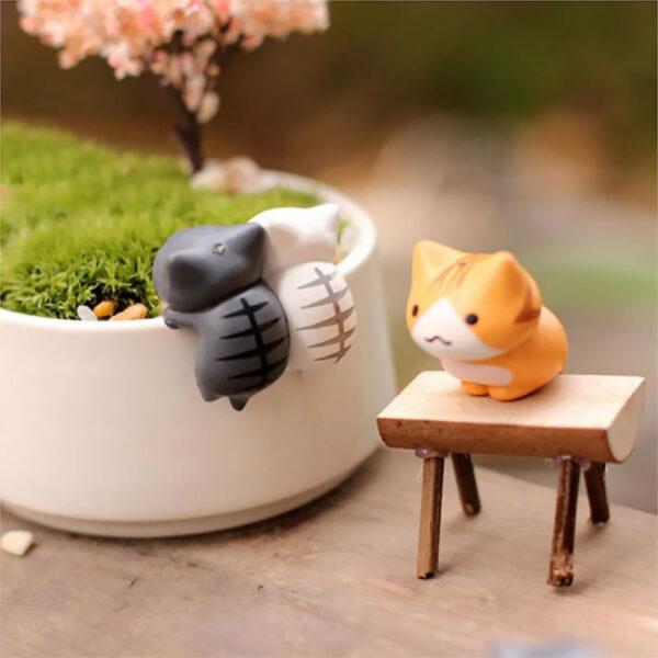Set di 6 statuette gattini decorativi, dettaglio 03