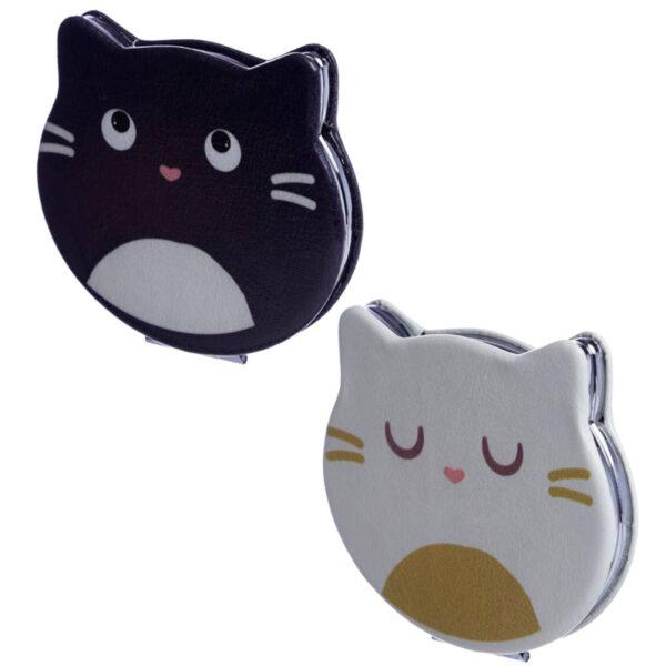 Specchietto da borsa musetto di gatto