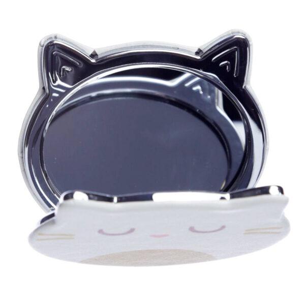 Specchietto da borsa musetto di gatto aperto