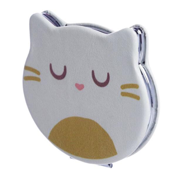 Specchietto da borsa musetto di gatto bianco