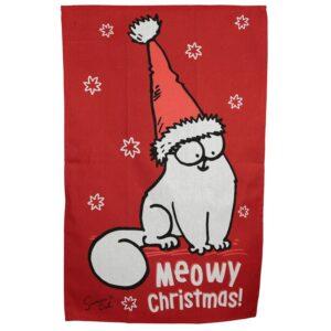 Strofinaccio natalizio con il gatto Simon's Cat