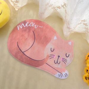 Tappetino a forma di gatto rosso