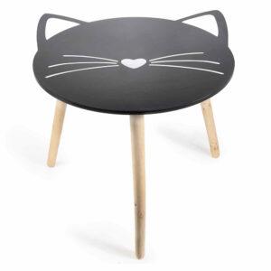 Tavolino in legno musetto di gatto