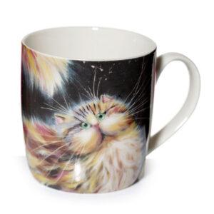 Tazza caffelatte gatto arcobaleno Kim Haskins