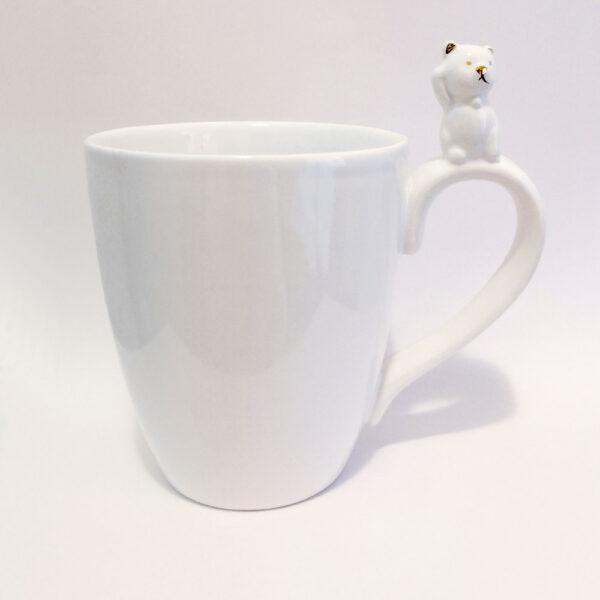 Tazza in ceramica con gattino sul manico